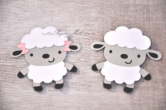 5  2.5 mouton Die coupes animaux de la par ThePaperMillCompany