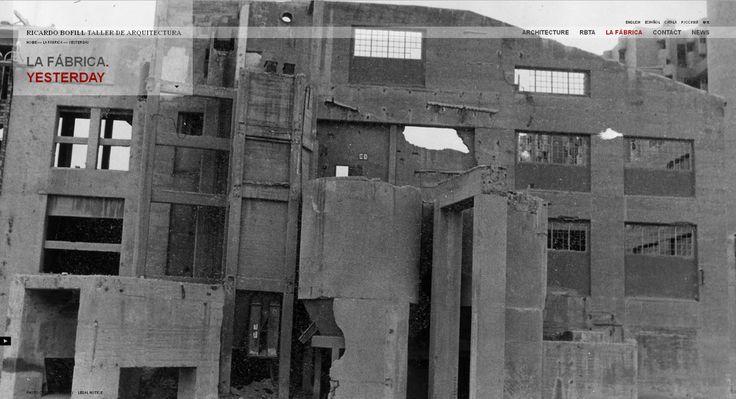 ruins & pit  La fábrica - Ricardo Bofill http://www.ricardobofill.com/EN/569/La-fabrica/Yesterday-html