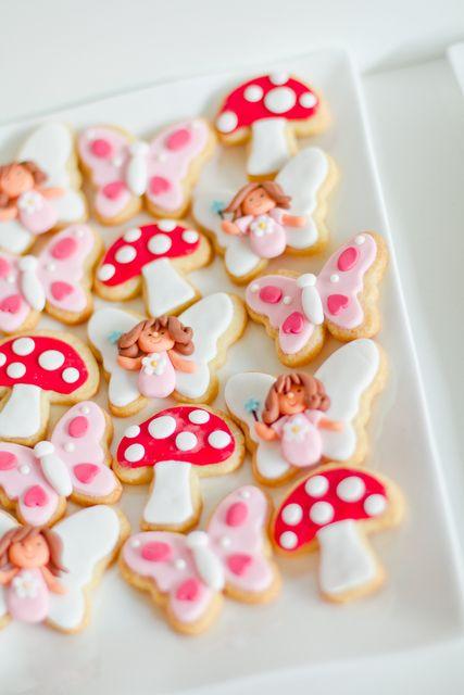Fairy garden cookies #fairy #garden #cookies #toadstool