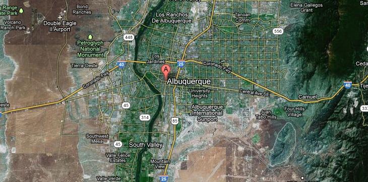 Brandon the map of albuquerque
