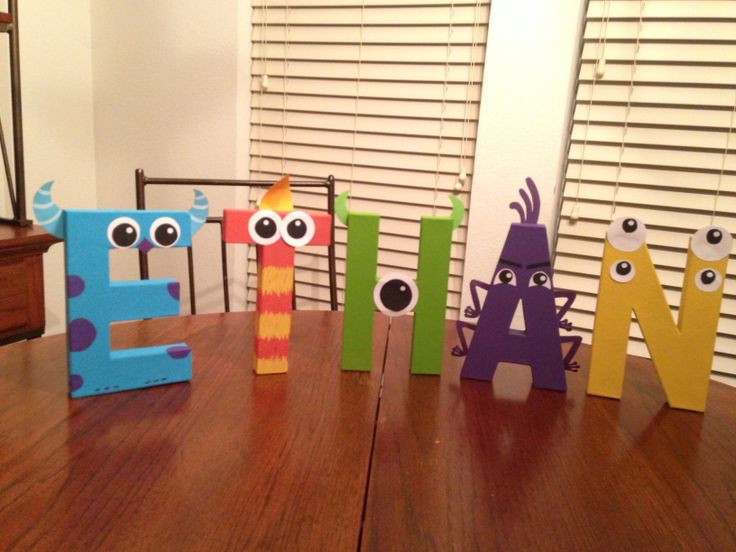 Monsters inc themed letters