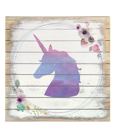 Another great find on #zulily! Unicorn Wreath Box Sign #zulilyfinds