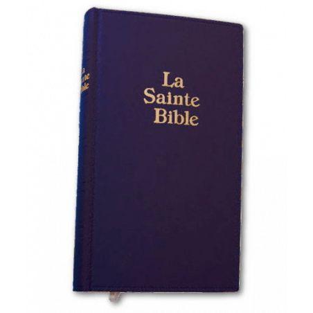 BIBLE DARBY GRAND FORMAT SEMI-RIGIDE FIBROCUIR BLEU