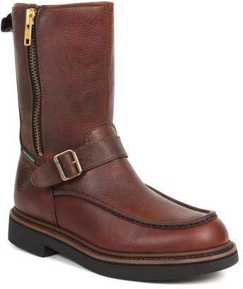 Georgia Boot Men's G41 Waterproof Side Zip Moc Toe Wellington