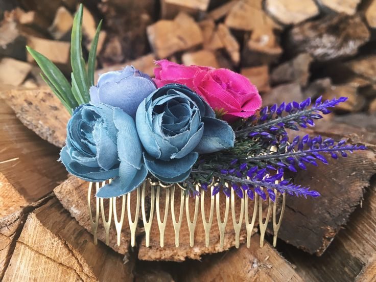 A personal favorite from my Etsy shop https://www.etsy.com/listing/513074305/pink-floral-hair-comb-bohemian-hair-comb