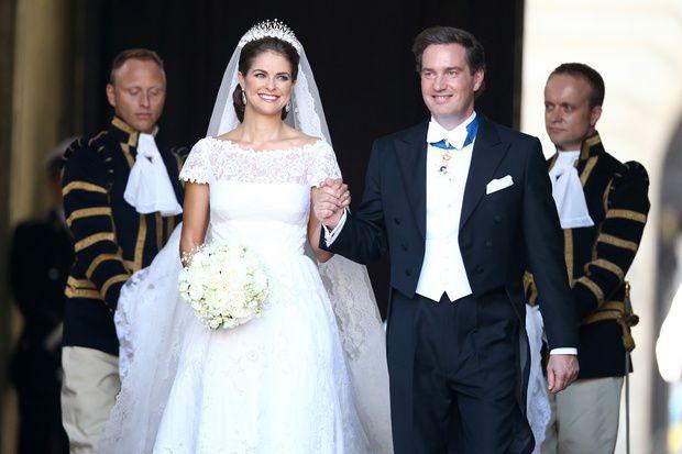 La Principessa Madeleine di Svezia con il suo sposo, il banchiere Christopher O'Neill