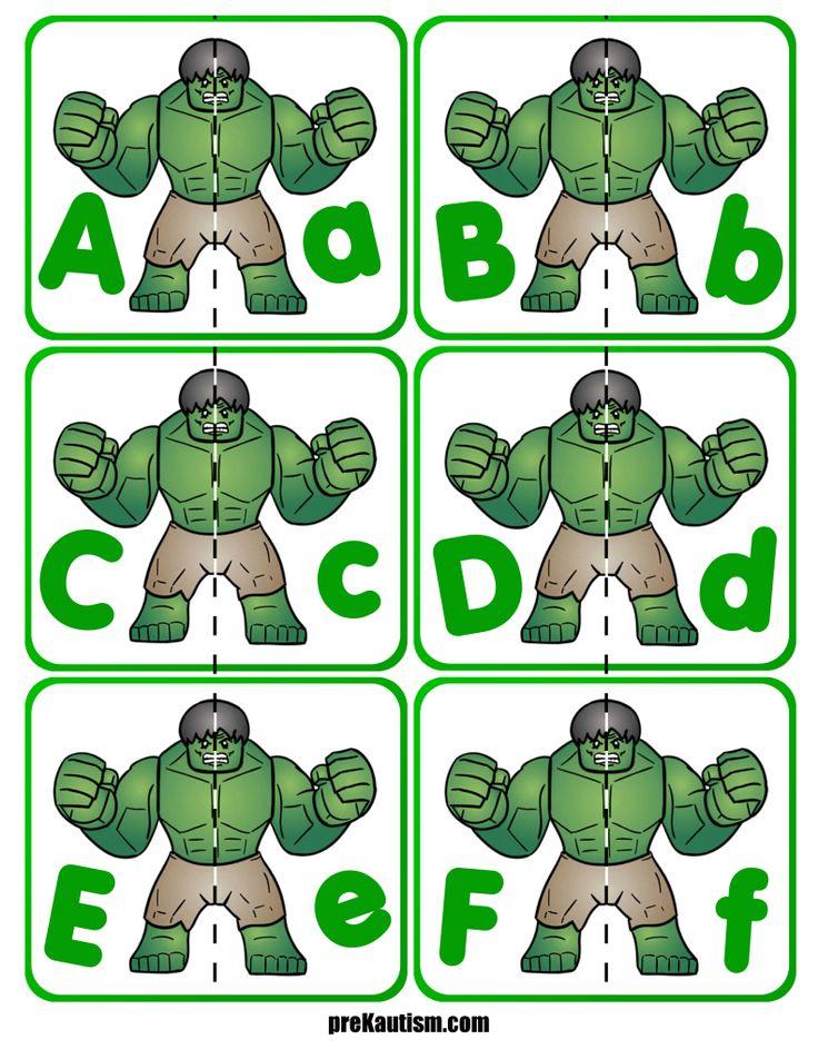 FREE! Hulk Letter Match Activity