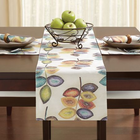 Croscill Mosaic Leaves Table Collection Homedecor