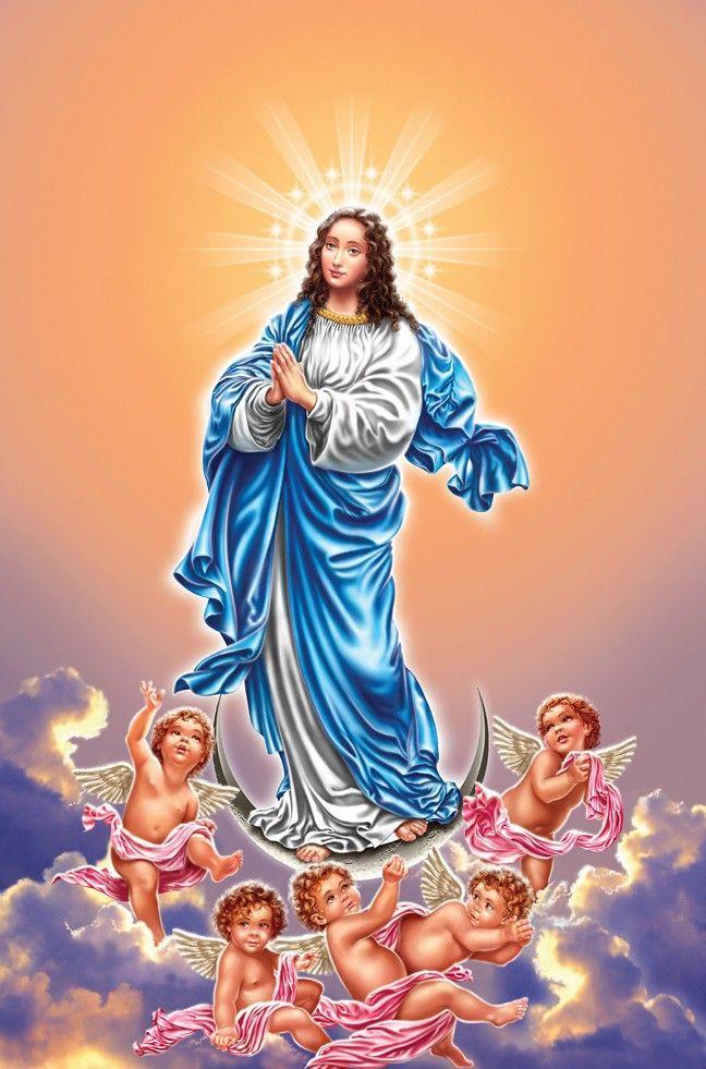 """Coincidência Católica: Nossa Senhora da Luz, também conhecida como N.Sra. das Candeias e N. Sra. da Candelária. Ostenta uma coroa de 13 velas na cabeça e seu dia é comemorado em 2 de fevereiro (Candlemas no hemisferio Norte). A origem da devoção à Senhora da Luz tem os seus começos na festa da apresentação do Menino Jesus no Templo e da purificação de Nossa Senhora (""""Candelária""""), quarenta dias após nascimento de seu filho."""