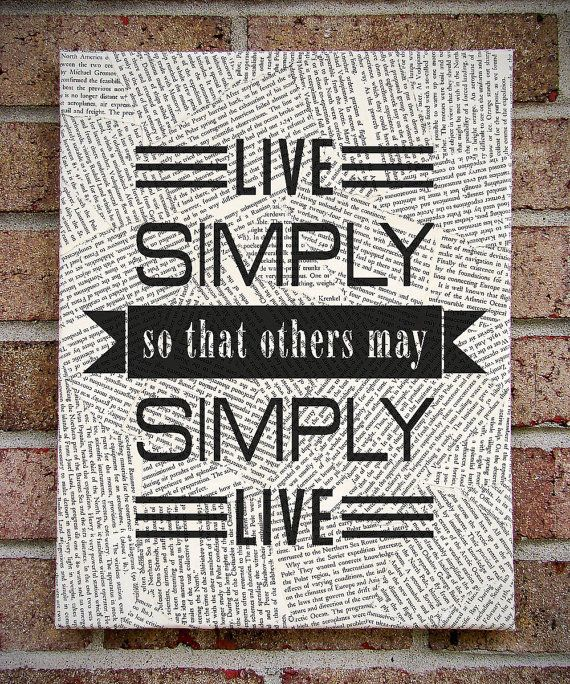 Quote wall art live simply so that others may simply live for Live simply wall art