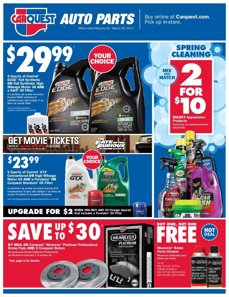 Carquest Auto Parts February 23 - March 29, 2017 - http://www.olcatalog.com/carquest/carquest-auto-parts.html