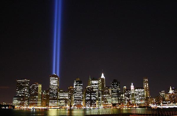 Tribute in Light,from the Brooklyn Heights Promenade, Brooklyn, New York