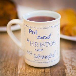 Coffee mug with christian message.