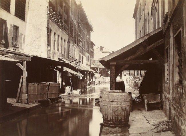 Tanneries rue de Bièvre ( Paris 5e ) 1862