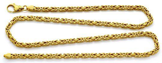 Königskette Goldkette massiv Gelbgold 14K/585 Karabiner - Armband, Ketten in Gold, Weissgold bis MINUS 75% unseres Schätzwertes, K2208