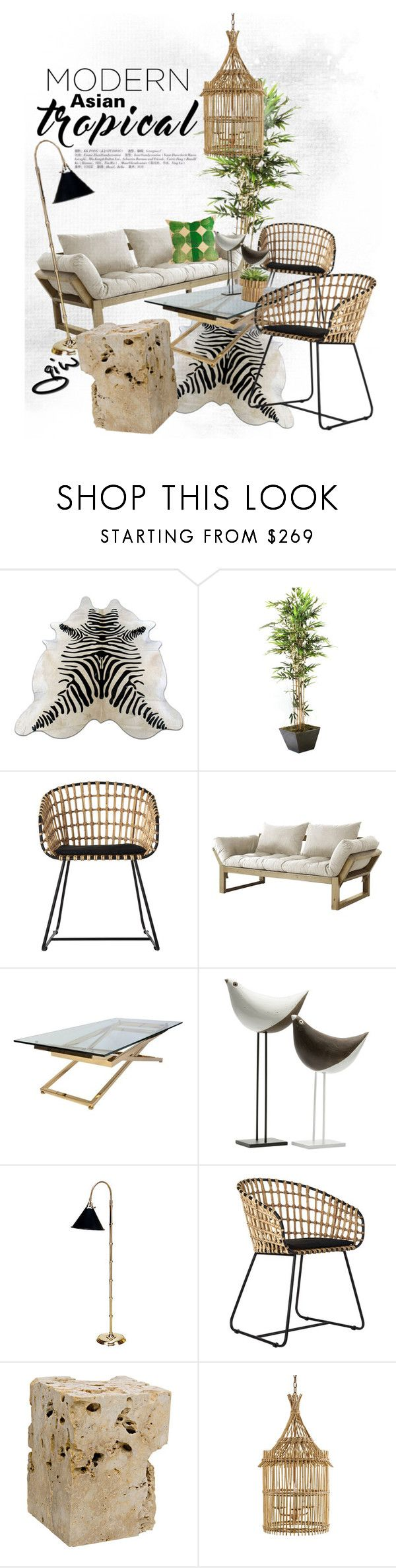 """""""modern asian...tropical..."""" by ian-giw ❤ liked on Polyvore featuring interior, interiors, interior design, home, home decor, interior decorating, Pols Potten, Fresh Futon, Bitossi and nOir"""