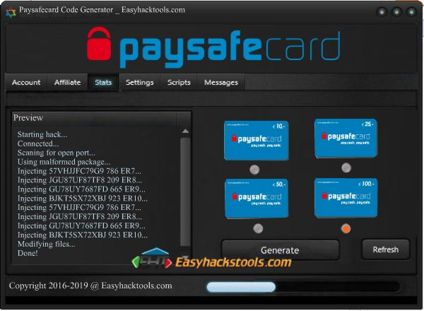 Paysafecard Code Hack