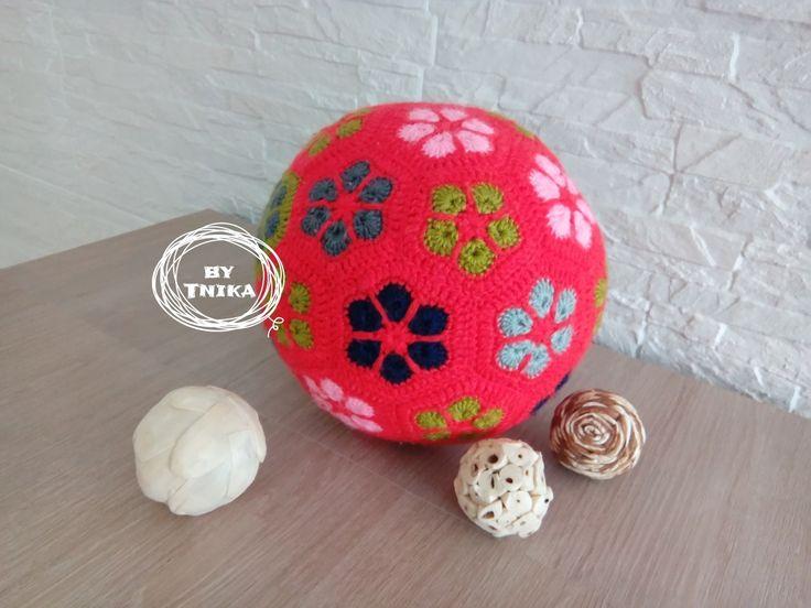 Big ball MAX african flower crochet Háčkovaný balón