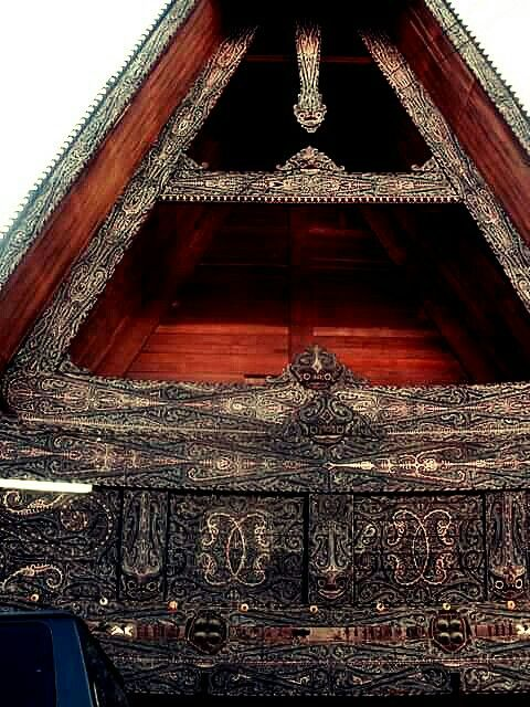 Traditional House, Lake Toba ( Danau Toba ), Sumatera Utara, Indonesia