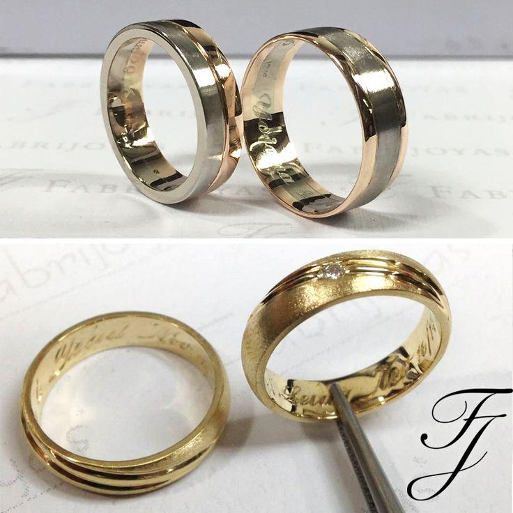 ¿Qué es una argolla de matrimonio moderna? Estas argollas tienen líneas limpias y un glamour que se adapta perfectamente a una sensibilidad de estilo contemporáneo. ¿Te identificas con este estilo? #ArgollasDeMatrimonioCali #ArgollasDeMatrimonioColombia #WeddingBandsColombia