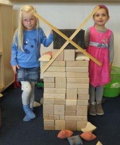 Molen bouwen in de bouwhoek, kleuteridee , thema bakker