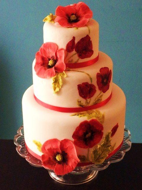 Poppy Hochzeitstorte