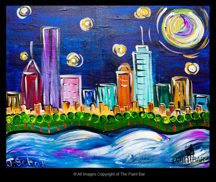 Starry Starry Boston Painting - Jackie Schon, The Paint Bar
