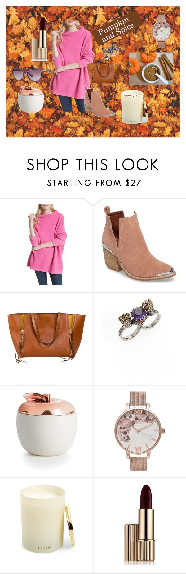 """""""Pumpkin and Spice...."""" by adryalamos on Polyvore featuring Free People, Jeffrey Campbell, Alexander McQueen, Illume, Olivia Burton and AERIN"""