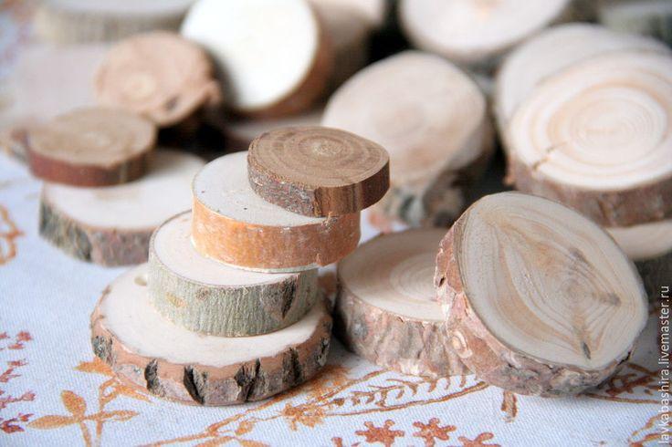 Купить Срезы разных пород деревьев - натуральное дерево, срезы дерева, сосна, ольха, Рябина