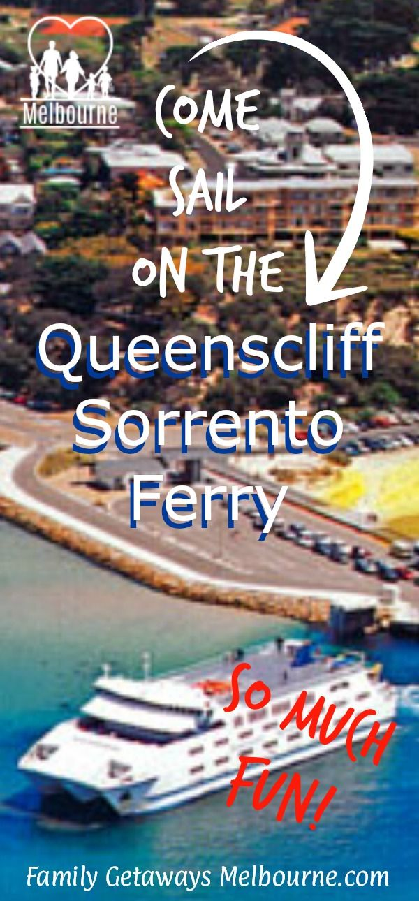 Travel across Port Phillipo Bay on the Sorrento Ferry. This car ferry travels from Mornington Peninsular across the bay to the western Bellarine Peninsular. Click the image for more information.
