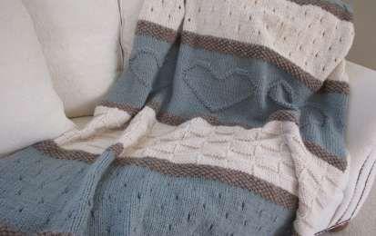 Coperte di lana ai ferri - Coperta shabby chic