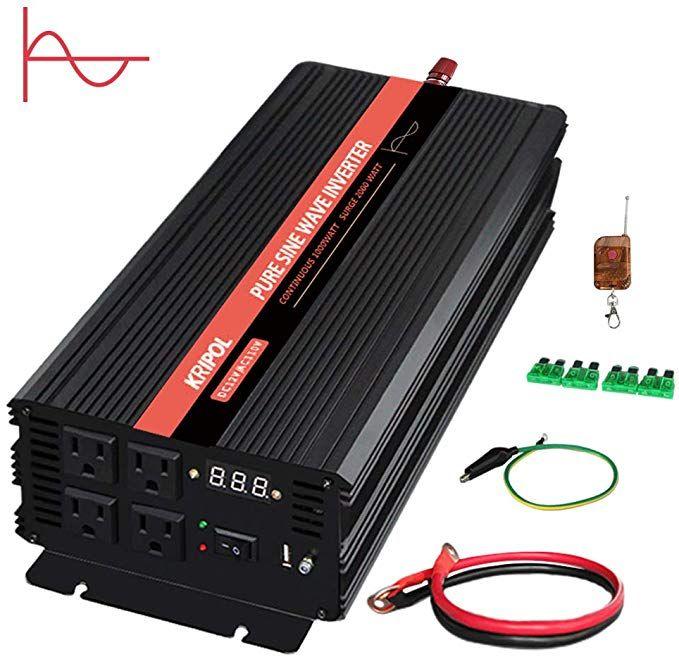 3000W 12V 110V Qinlorgo 3000W//4000W//5000W////10000W 12V//24V to 110V Car Solar Voltage Inverter High Power