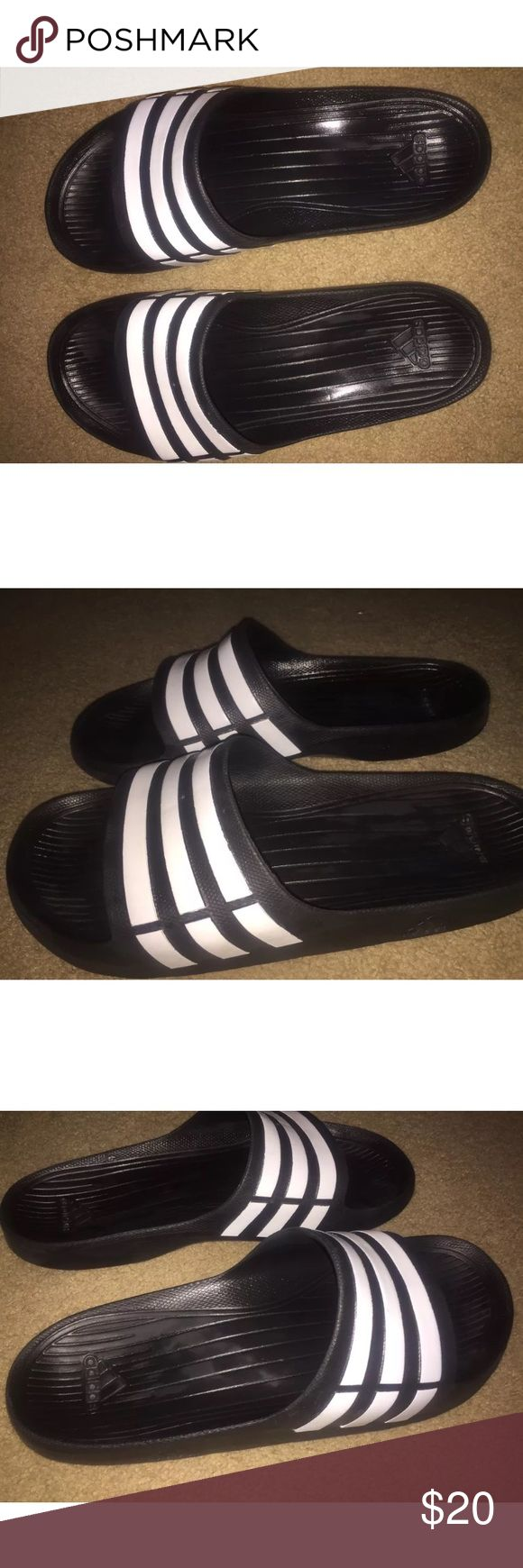 Addidas Sandals Size 11 men. Slightly when but still good condition . Adidas Shoes Sandals & Flip-Flops