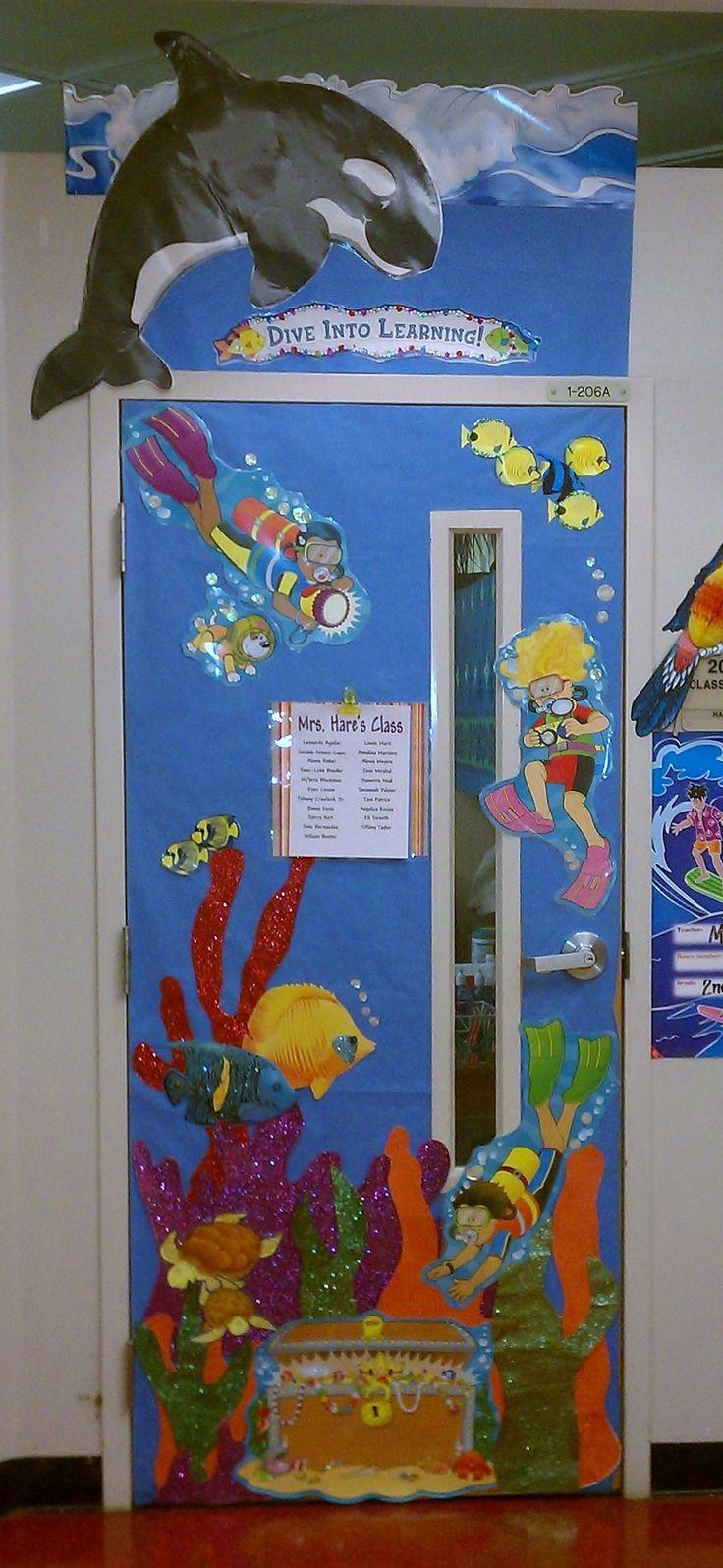 classroom door decor...ocean, hawaii theme