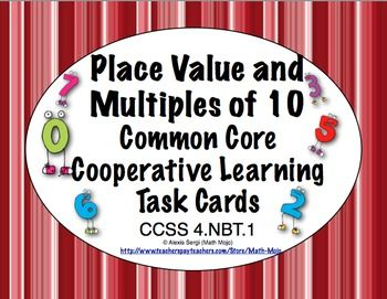 79 best math task cards images on pinterest math task cards common core math task cards place value and multiples of 10 4nbt fandeluxe Gallery