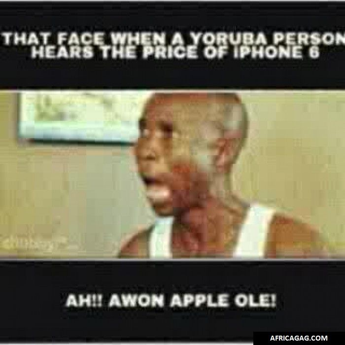 Hahaha: yorubas be like
