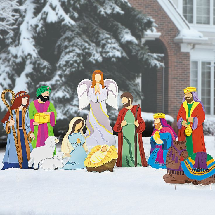 Living Nativity Ideas: 17 Best Images About Outdoor Christmas Decorations On