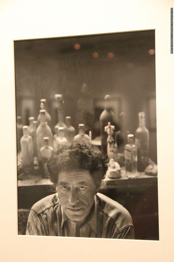 Арнольд Ньюман. Альберто Джакометти, скульптор, художник. эстампист, 1954
