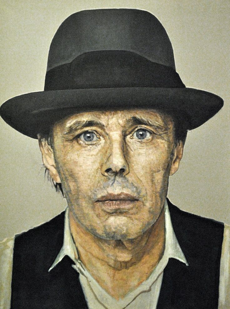 Joseph Beuys - I like beuys self portrait because of the paint style and attention to detail.