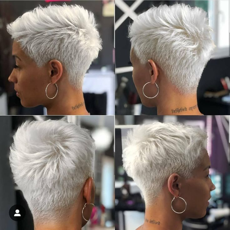 Who likes? #shorthair #afrohair #afrohairstyle #whitehair #haircolor
