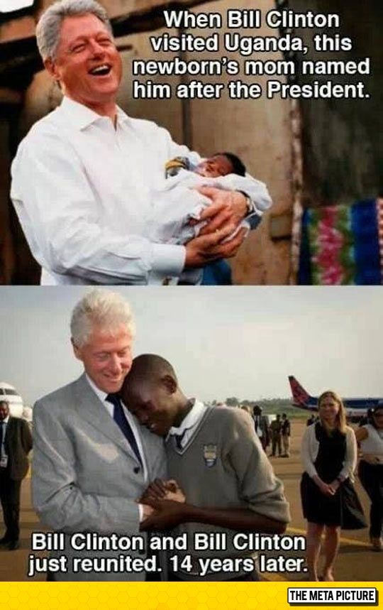 Bill Clinton Meets Bill Clinton - I remember this event!  I'm so glad they got to meet up again!!