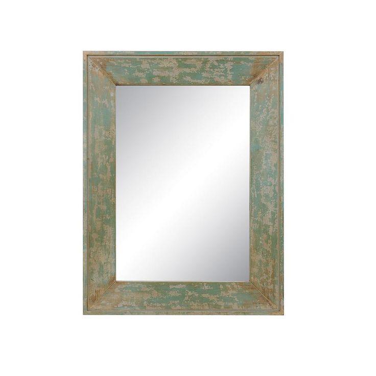 Tristan Distressed Blue Framed Mirror