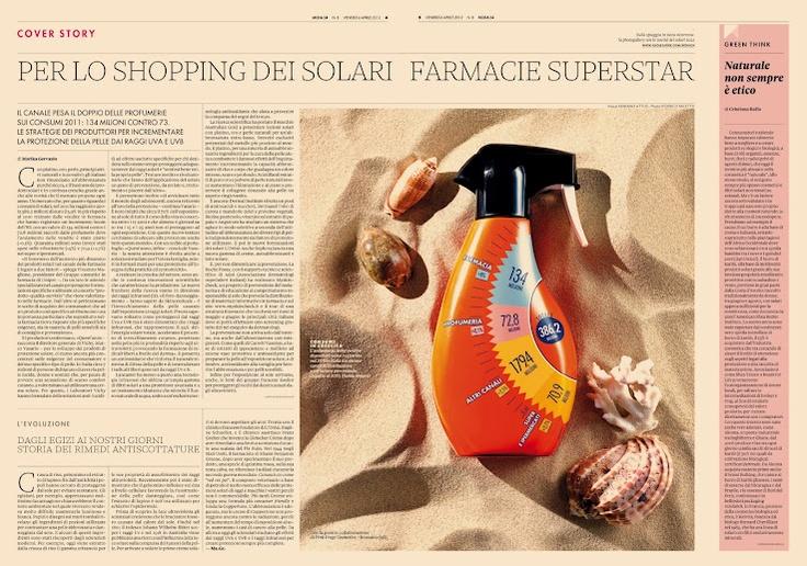 Solar Cosmetics Industry - Italian Retail Shares @Moda24 - handmade data visualization - infovis
