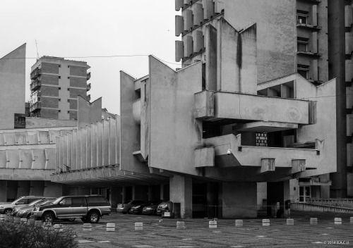 Administrative Palace, Satu Mare, Romania, built between 1972-84, Architects Nicolae Porumbescu, Ludovic Gyüre