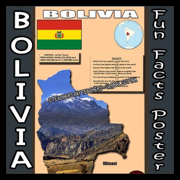 Bolivia Fun Facts Poster In 2020 Fun Facts How To Speak Spanish Fun