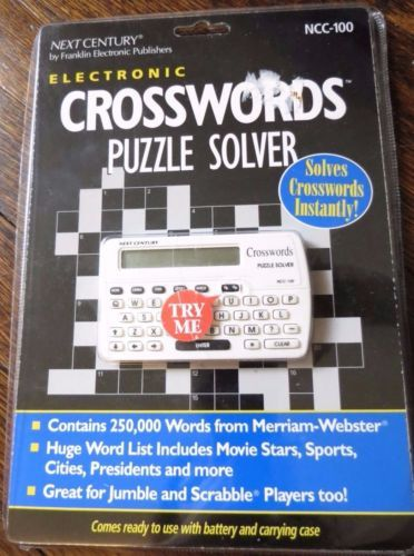 Next Century Crossword Puzzle Solver Franklin Electronics NCC-100 Crosswords