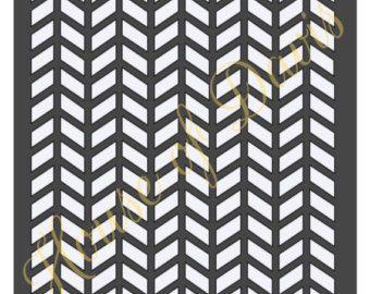 Plantilla de la raspa de arenque (estilo 2) - 12 x 12