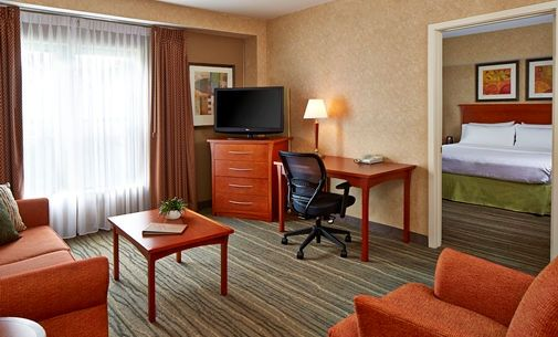 Homewood Suites by Hilton Chicago-Lincolnshire Hotel, IL - King Suite Living Room | IL 60069