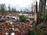 The Enhanced Fujita scale (EF-Scale) rates the strength of tornadoes in the United States and Canada based on the damage they cause. http://en.wikipedia.org/wiki/Enhanced_Fujita_scale