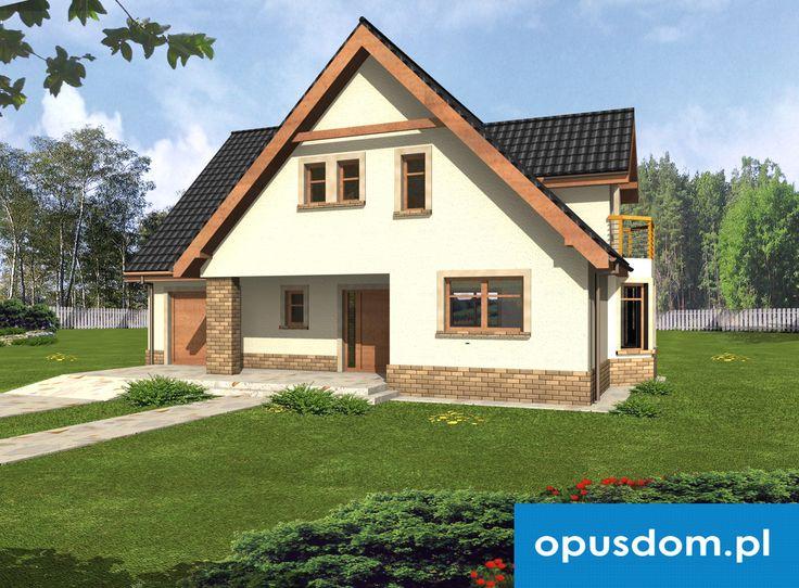 Amelia - projekt wygodnego domu 185,9m2 + garaż jednostanowiskowy Autor: Marek Oczkowski  OPUSDOM